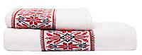 Набор махровых полотенец с украинским орнаментом 50х90 70х140