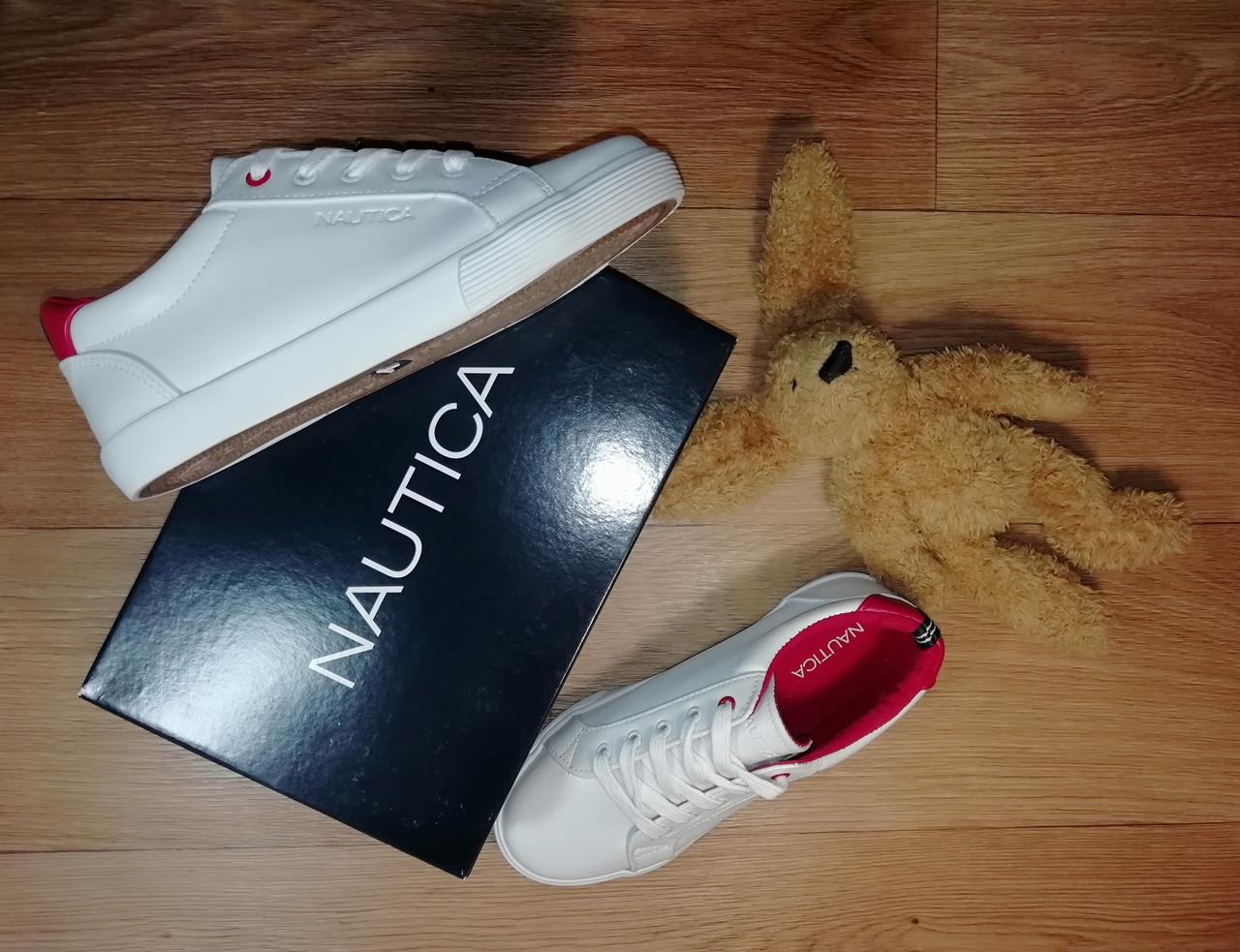 Белые стильные кроссовки мокасины Nautica Оригинал (Размер 34,стелька 22,5см)