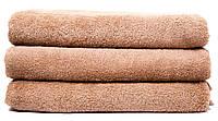 Махровое полотенце банное 70х140 см Беж Узбекистан