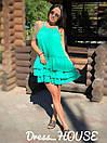 Летнее платье-трапеция с тройным воланом 5plt1556, фото 2