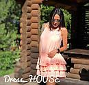 Летнее платье-трапеция с тройным воланом 5plt1556, фото 3