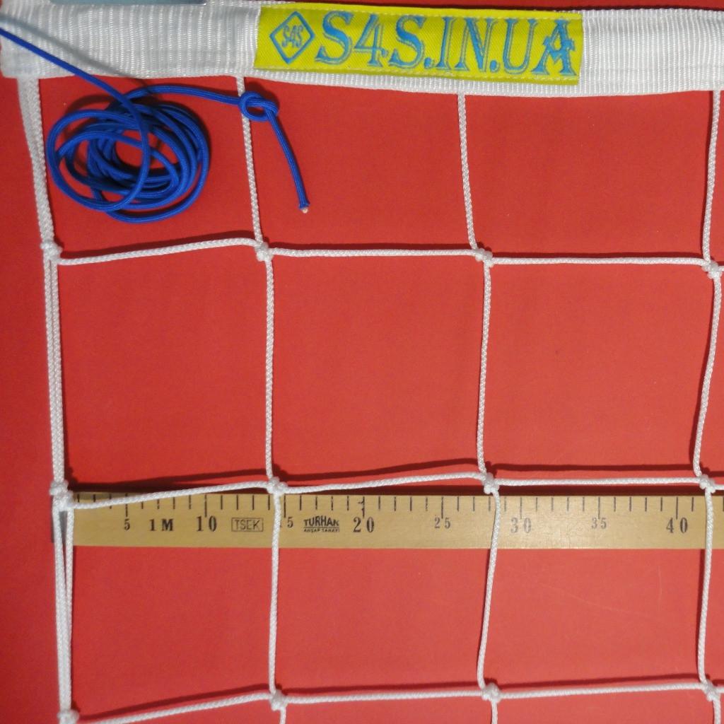 Волейбольная сетка «ЭЛИТ 15» с паракордом белая
