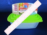 Судки квадратные с салатовыми крышками Набор лотков Дуня 300975 лотки контейнеры пищевые 4 штуки