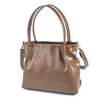 Коричневая женская сумка с длинными ручками на плечо М166-32/15, фото 1
