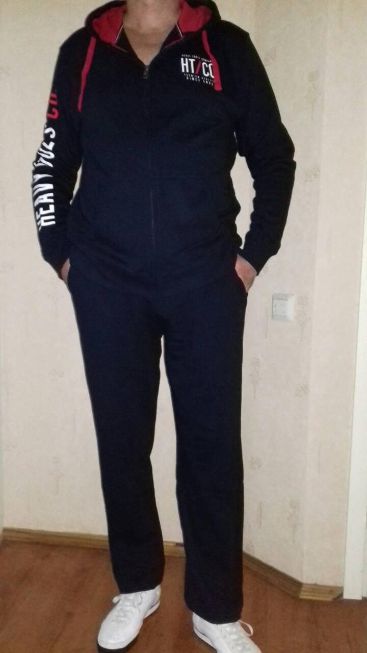 b3c121726b95 Спортивный костюм мужской синий, хлопок, фирма производитель Heavy Tools