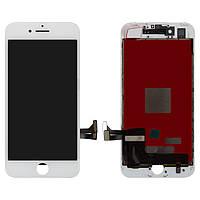 Дисплей для iPhone 7, модуль в сборе (экран и сенсор), с рамкой, белый, оригинал 100%