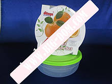 Лотки круглые мелкие Набор судочков Дуня 30019 лотки контейнеры пищевые 3 штуки