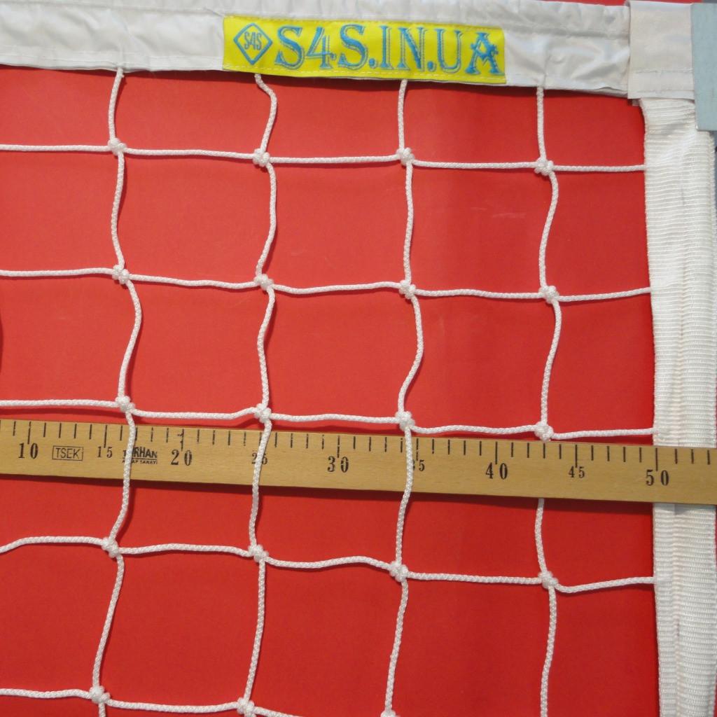 Волейбольная сетка «ЭЛИТ 10 НОРМА» с тросом белая