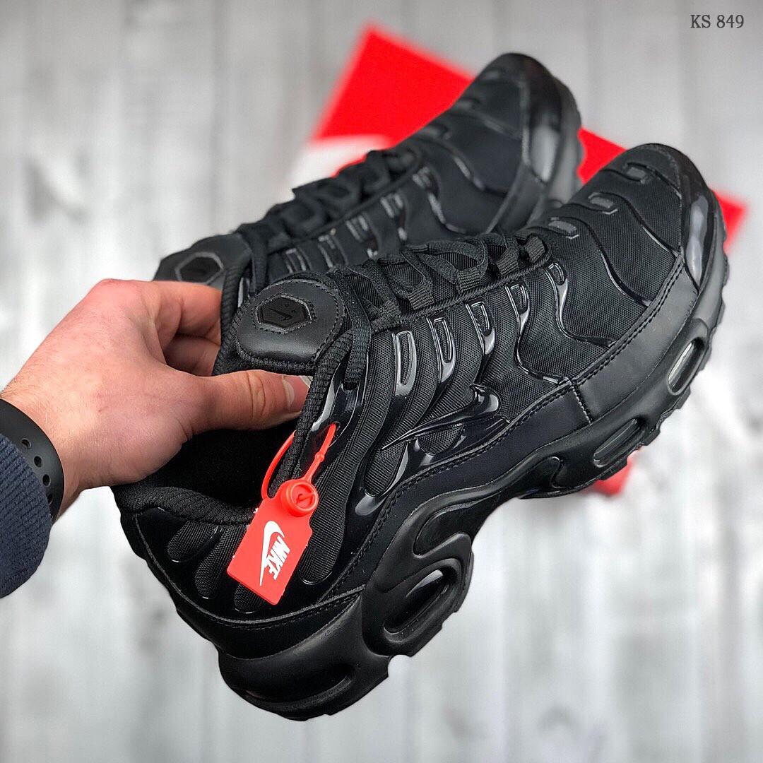 Мужские кроссовки Nike Air Max TN Plus (Черные)