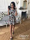 Принтованное платье притал с коротким рукавом 73plt1678, фото 3