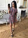 Принтованное платье притал с коротким рукавом 73plt1678, фото 4