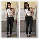 Классические женские брюки с карманами и поясом 51bil272, фото 2