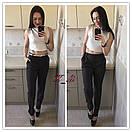 Классические женские брюки с карманами и поясом 51bil272, фото 3