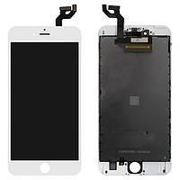Дисплей для iPhone 6S Plus, модуль в сборе (экран и сенсор), с рамкой, белый, оригинал 100%