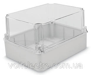 Коробка настенная 190x145x80 с гладкими стенками та прозрачной крышкой IP54