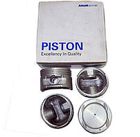 Комплект поршнів двигуна Ланос 1,6 стандарт АНАМ Корея (без пальців), 96182846