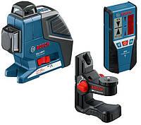 Линейный лазерный нивелир (построитель плоскостей) Bosch GLL 3-80 P + BM1 + LR2 + L-BOXX (060106330A)