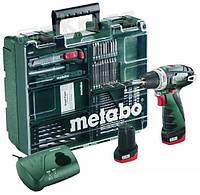 Дрель-шуруповерт аккумуляторная Metabo PowerMaxx BS Basic Mobile Workshop
