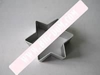 Форма металл 6*8*2,3см шестиконечная Звезда VT6-17838
