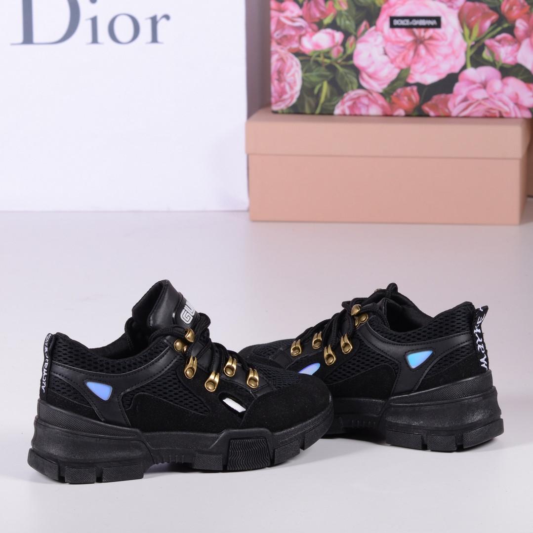 87b2cf725724 Кроссовки Gucci SEGA Sneaker черные. Аналог