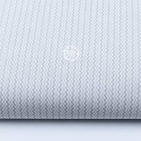 "Ткань хлопковая ""Двойной мини зигзаг серого цвета"" на белом, коллекция Mini-mikro, №1881а"