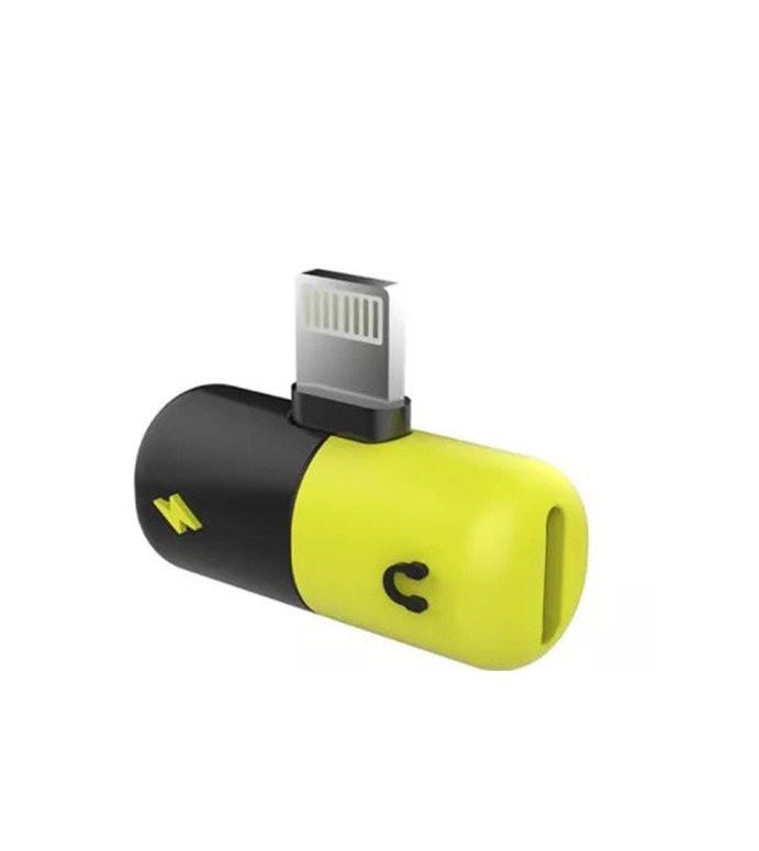 Переходник iPhone Xs/X/8/7 для зарядки и наушников 2 в 1