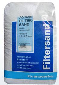 Кварцевый песок Filtersand 1–2 мм (25 кг)