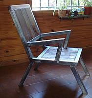 Кресло лофт с металлическими подлокотниками