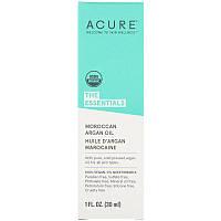 Acure, The Essentials, марокканское аргановое масло, 1 ж. унц. (30 мл)