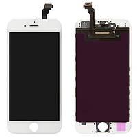 Дисплей для iPhone 6, модуль в сборе (экран и сенсор), с рамкой, белый, оригинал 100%