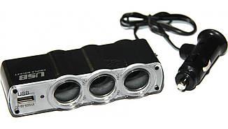 Разветвитель прикуривателя + USB WF-0120 12V/5A