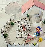Домик кукольный для LOL LITTLE FUN с двориком, фото 7