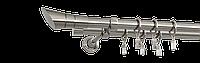 Карниз двойной 200см D19/19мм сталь нержавеющая SALOMA