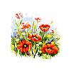 Цветочная поляна. Dantel. Канва с нанесенным рисунком