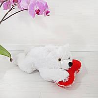Мягкая игрушка Медведь Соня с сердцем 41 см, фото 1