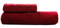 Маховое полотенце для рук и лица 50х90 Бордо
