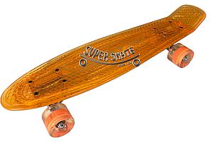 Скейт Пенни борд Penny Board Пенні Борд Светиться весь LED 22 Orange - Оранжевый 54 см пенни борд, фото 2
