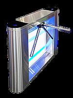 Турникет-трипод GALAXY, шлифованная нержавеющая сталь  AISI 304, столешницы из нж стали, фото 1