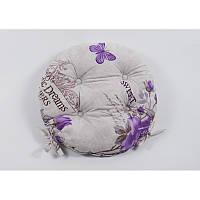 Подушка на стул lotus круглая ø 40 - ella с завязками лиловый #S/H