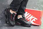 Мужские кроссовки Nike Air Max 95 (черно-красные), фото 2