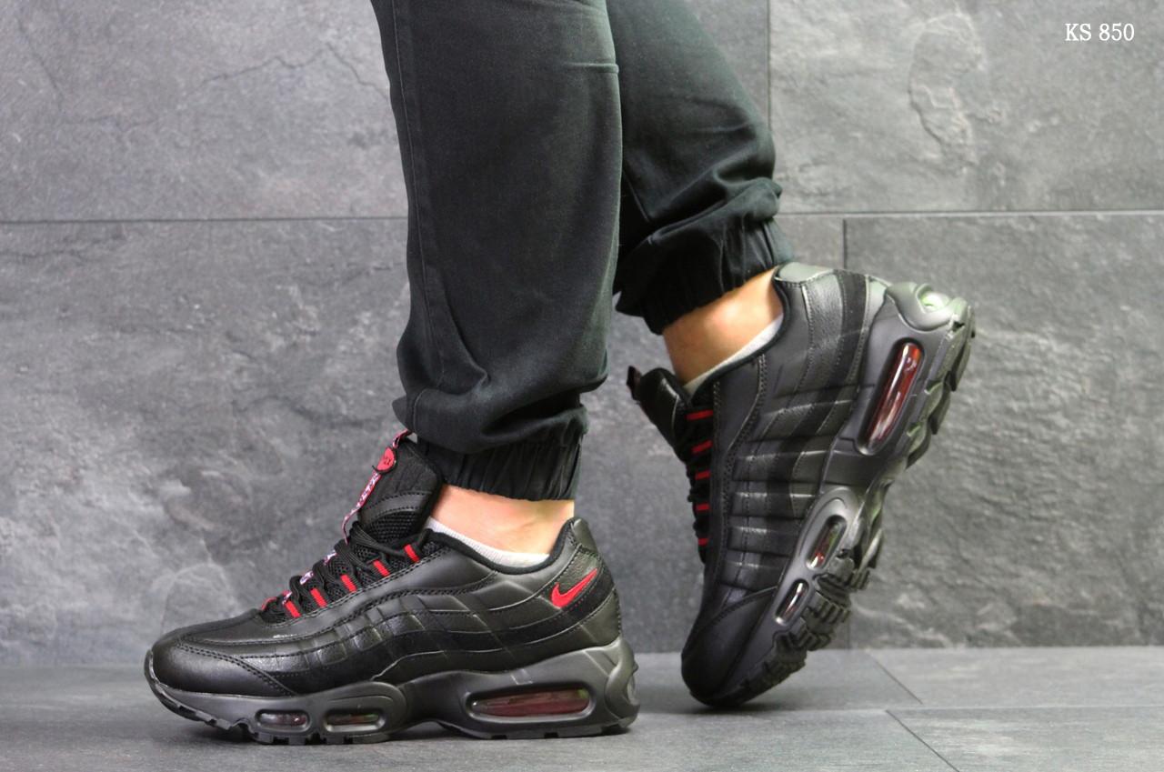 Мужские кроссовки Nike Air Max 95 (черно-красные)