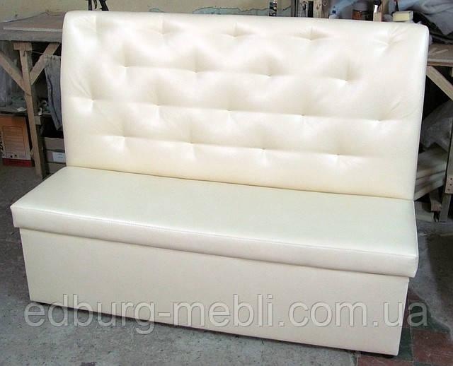 Офисный диван с втяжками и высокой спинкой