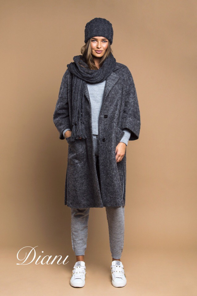 Шерстяное женское Пальто оверсайз 14pal111