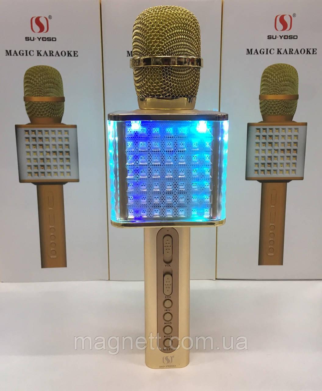 Портативный беспроводной микрофон для караоке Magic YS-86 золотой 18W