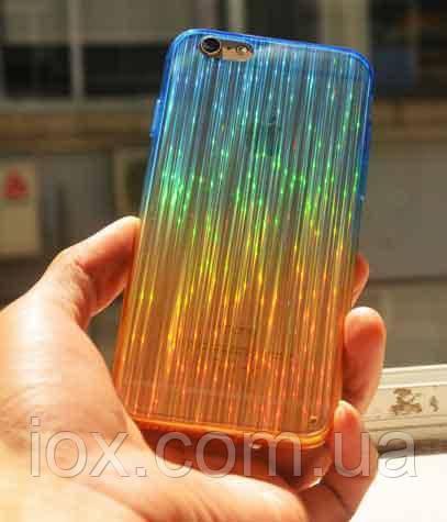 Переливающийся синий чехол для Iphone 6+