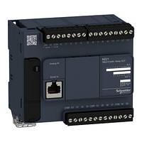 Контролер Modicon M221 14DI/10RO+2AI (0-10В) RS485 TM221C24R