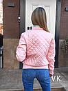 Стеганная женская куртка из экокожи демисезонная 60kur128, фото 3