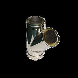 Тройник 45° утеплённый нерж/оцинк AISI321