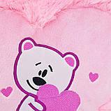 Подушка Сердце с мишкой 35 см, фото 3