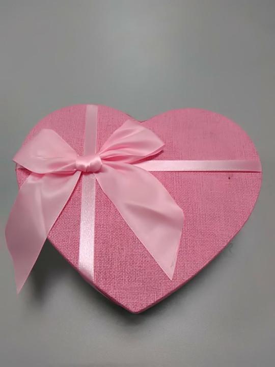 Коробочка сердце розовая